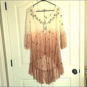 Womens gimmicks Sheer Tunic Size M